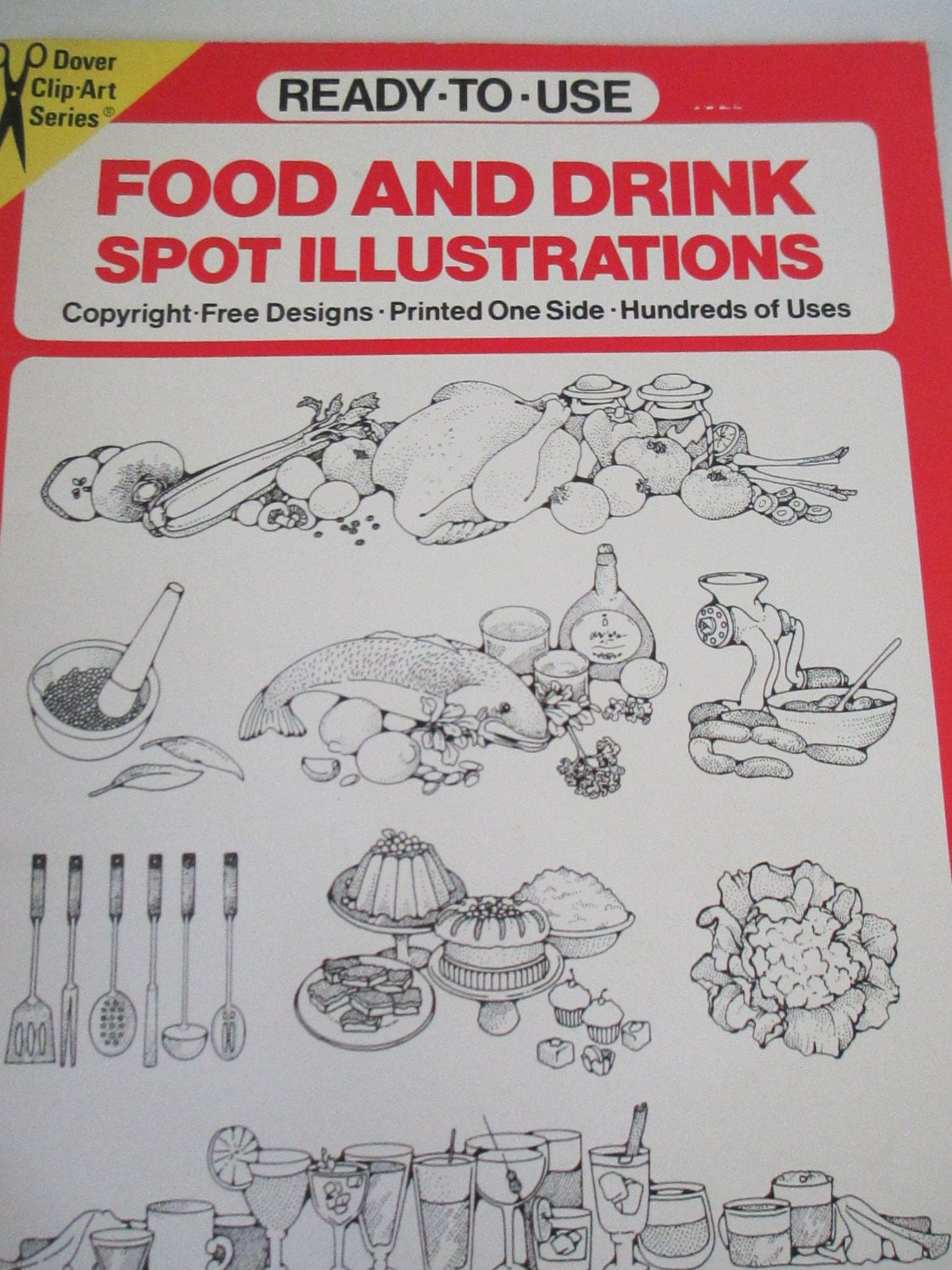 clip food drink dover copy illustrations