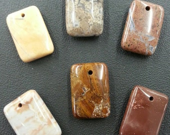 Jasper From the Mojave Desert Pendant Stones 6 pieces