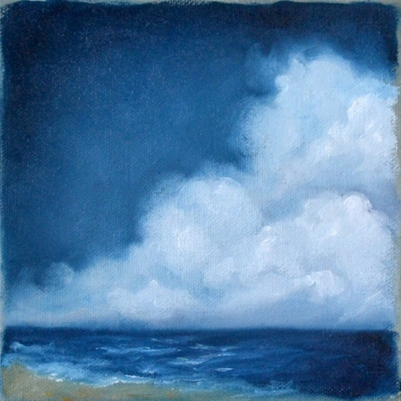 seascape painting original oil painting clouds wall art. Black Bedroom Furniture Sets. Home Design Ideas