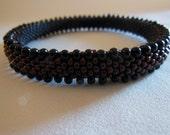 Bead Crochet Bangle: Double Drops