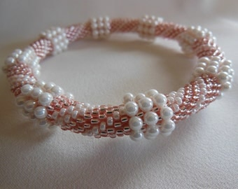 Bead Crochet Bangle:  Chunky Drops