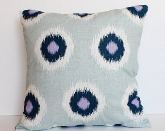"""CLEARANCE SALE!!!!  Blue Modern Dots Pillow Cover - 18"""" x 18"""" Decorative Pillow Cover"""