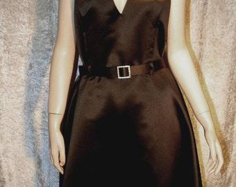 Black Satin Halter Dress Sz14 Jessica McClintock