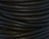 10 Yards - 1.5 mm Leather Cord - #402 Natural Black