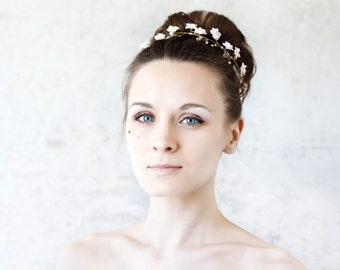 51_Floral crown, Wedding tiara, Wedding head piece, Bridal tiara, Blush tiara, Pink tiara, Flower tiara, Head piece headband, Bride crown