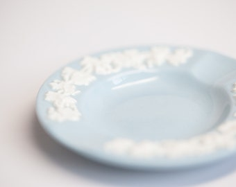 Blue Wedgwood of Etruria & Barlaston Ring Dish Embossed Queensware