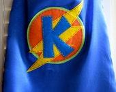 Blue Super Hero Cape/ Reversible / Customize