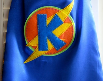 Superhero Costume -PERSONALIZED Boys Superhero Cape - Choose the Initial - Superhero Birthday Party