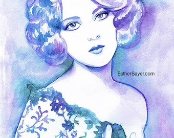 Marion Benda Watercolor Fashion Illustration Painting Fine Art Print