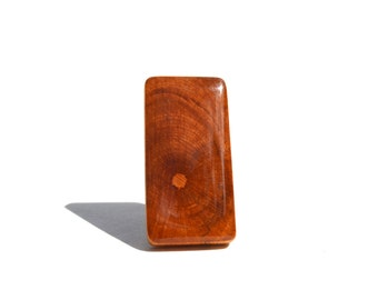 Natural Rectangle Statement Ring. Wood Statement Ring. Wood Ring. Rectangle Ring. Starlight woods. Eco friendly jewelry.
