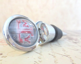 Texas A&M Aggies Wine Stopper - Graduation Texas Wine Bottle Stopper