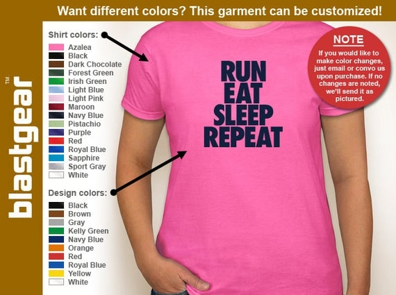 Run, Eat, Sleep, Repeat running enthusiast womens T-shirt — Any color/Any size - Adult S, M, L, XL, 2XL, 3XL