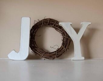 Christmas Decor, Joy Letters, Mantle Decor