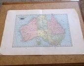 Vintage 1904 Tunison's Australia Map