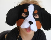 Dog mask PATTERN PDF.  One size fits most.  Instant Download. - EbonyShae