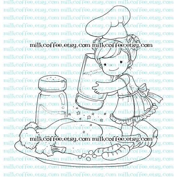 Digital Stamp Luna and Sunny Side Up