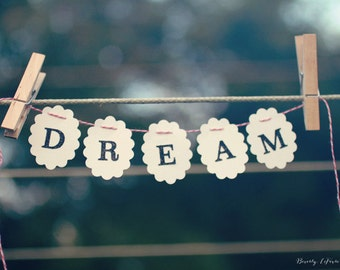typography, dream, clothesline, fine art photography