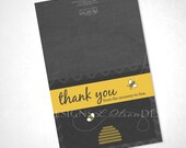 Mommy-to-Bee Thank You - DIY Printable - INSTANT DOWNLOAD