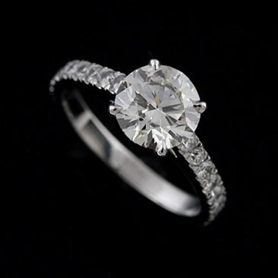 Classic Diamonds Engagement Ring 2CT Forever One Moissanite