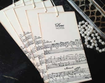 Music wish tags- music themed favors- musical wedding favors-score- treble clef