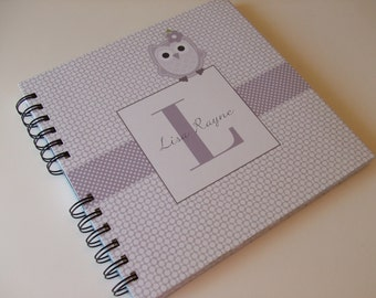 Owl Wire Bound Baby Memory Book