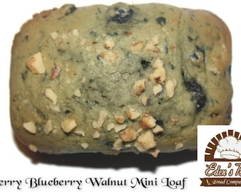 18 Berry Blueberry Walnut Mini Loaves