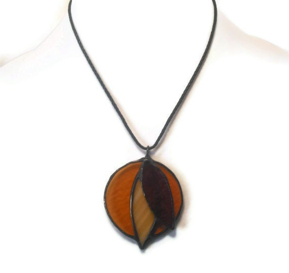 Stained Glass Jewelry Pendant Dreamcatcher Dreamer Glass and Metal Handmade Jewelry Original Glass Jewelry Necklace Statement Jewelry Ooak