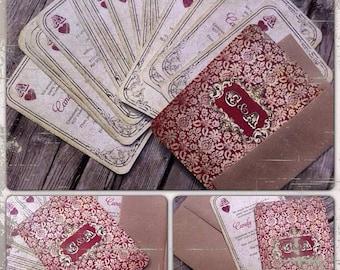 Playing Card Invitation / Las Vegas Invite / Las Vegas Invitation / Rustic Wedding Invitation / Ace of Hearts / Casino Royale Invitation