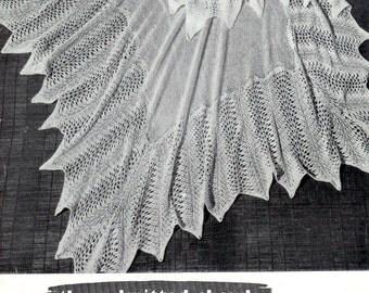 Baby Shawls 3 Styles - one in Shetland  Pattern - Greenock 443  - pdf Vintage Knitting Baby Pattern