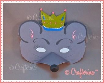 Mouse King from the Nutcracker Ballet Printable Mask Set- PDF Craft Kit - DIY - Play & Pretend - Educational