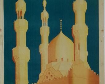 Original Egyptian railway poster to Cairo 1935