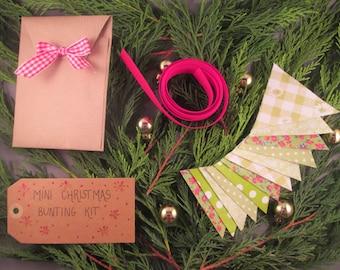 Mini Christmas Bunting Craft Kit Green Christmas Decorations Kit Christmas Craft Kit Christmas Crafts DIY Christmas