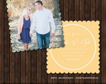 5x5 Save the Date Card Template - S21