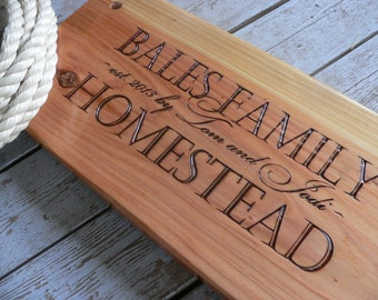 Tree Swing Housewarming gift personalized engraved