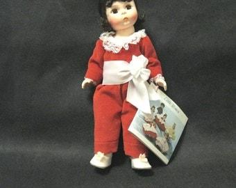 Tagged Alexander Doll, 8 Inch Red Boy, 1984