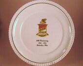 Vintage Sorority , Phi Beta Psi , Columbus Ohio , Golden Anniversary Plate