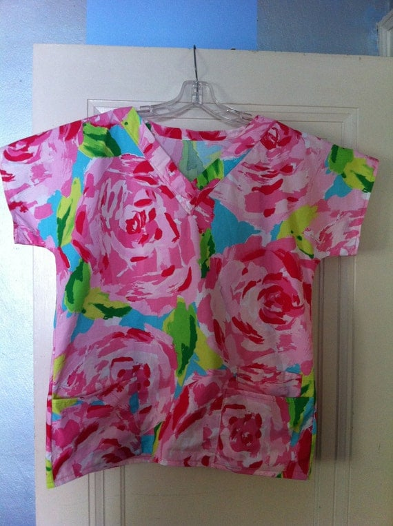 Special order for kelseyroo21 Scrubs Tops made with Lilly Pulitzer Fabric
