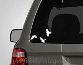 Raven Trio Vinyl Car Decal - Bird decal - Macbook decal - Laptop decal