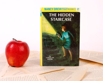 Nancy Drew Book Kindle Cover, Nook Cover- Ereader Case- Nancy Drew- The Hidden Staircase