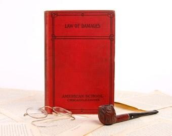 Book Kindle, Nook or mini iPad Cover- Ereader Case -Vintage Book- Law of Damages