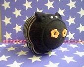 Black and grey sock piggy pin cushion