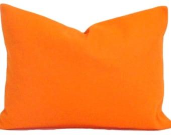 SOLID ORANGE PILLOW Sale, Orange.12x24, 12x20 or 12x18 inch.Decorative Pillow Cover.Housewares.Home Decor.Bright Orange.Orange Pillow.Lumbar