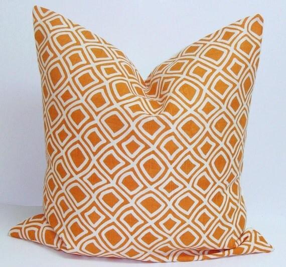 ORANGE PILLOW Sale.18x18, 16x16 or 12x16 inch.Decorative Pillow Cover.Home Decor.Orange Diamond Pillow.Throw Pillow.Cm.Pillow Cover.Orange