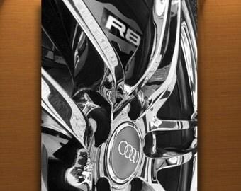 Audi Art, Husband Gift, Automobile Photo, Car Picture, Mancave Art, Boyfriend Gift, Automotive Print, Wheel Art, Wheel Pictures, Guy Thing