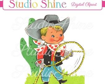 Cute cowboy clipart – Etsy