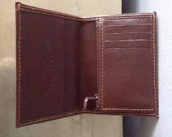 1 Charles et Charlus FRANCE brown leather wallet