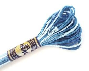 DMC 4237 Variegated 6 Strand Floss Laguna Blue
