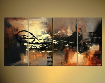 "60"" x 30"" original Acrylic Modern Palette Knife Textured Abstract Painting by Osnat Ready to Hang- MADE-TO-ORDER"