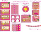 INSTANT DOWNLOAD Printable Vintage Softball Soiree Party Package...by Party Like Paula