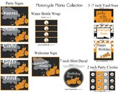 INSTANT DOWNLOAD Printable Motorcycle Mania Party Package...by Party Like Paula